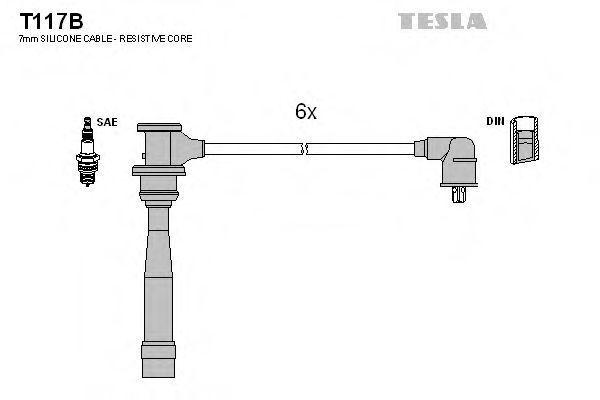 Провода высоковольтные комплект TESLA T117B