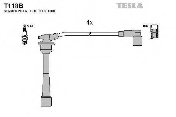Провода высоковольтные комплект TESLA T118B