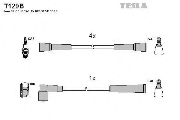 Провода высоковольтные комплект TESLA T129B