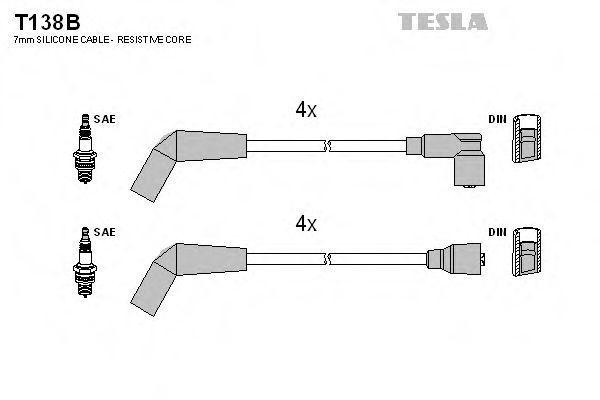 Провода высоковольтные комплект TESLA T138B