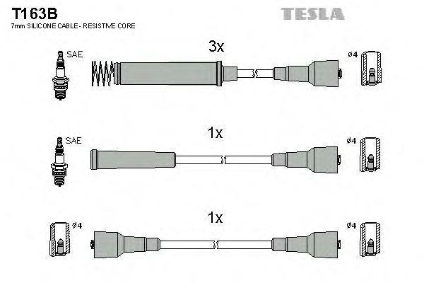 Провода высоковольтные комплект TESLA T163B