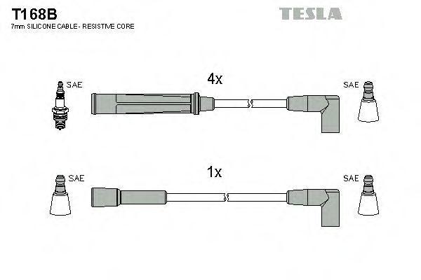 Провода высоковольтные комплект TESLA T168B