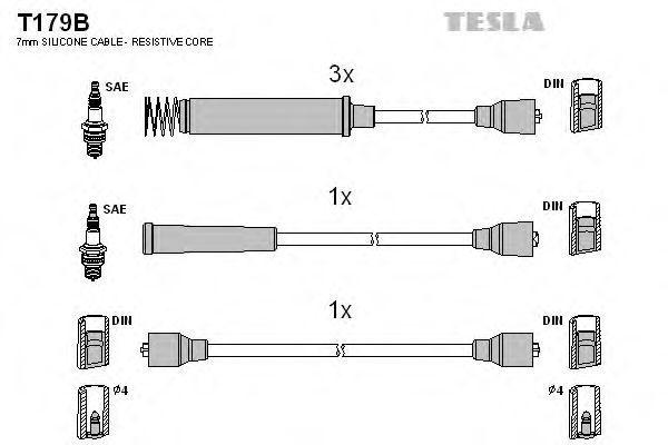 Провода высоковольтные комплект TESLA T179B