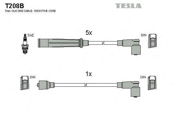 Провода высоковольтные комплект TESLA T208B