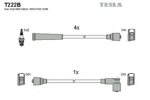 Провода высоковольтные комплект TESLA T222B