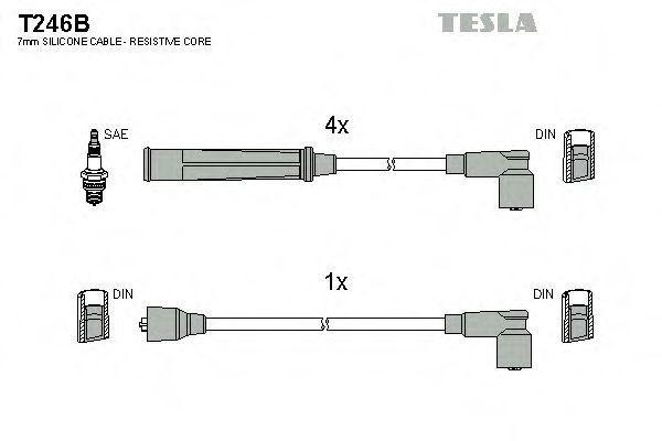 Провода высоковольтные комплект TESLA T246B