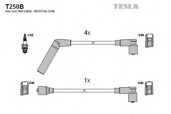 Провода высоковольтные комплект TESLA T250B