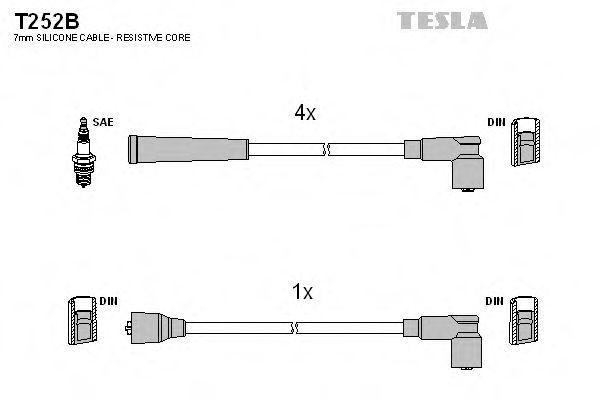 Провода высоковольтные комплект TESLA T252B