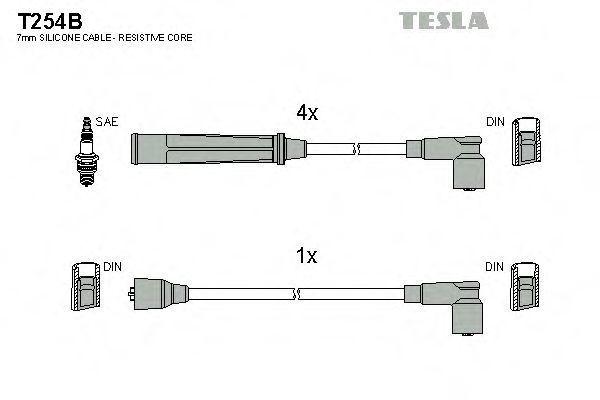 Провода высоковольтные комплект TESLA T254B