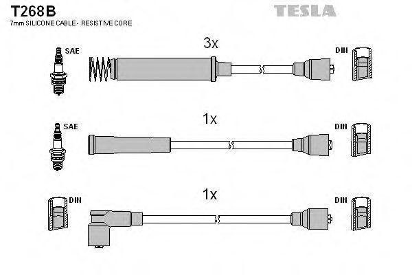 Провода высоковольтные комплект TESLA T268B