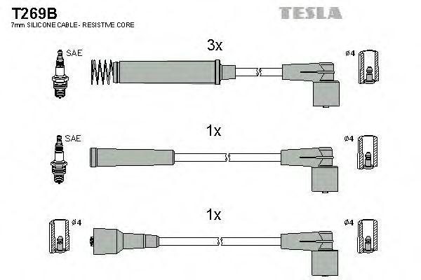 Провода высоковольтные комплект TESLA T269B