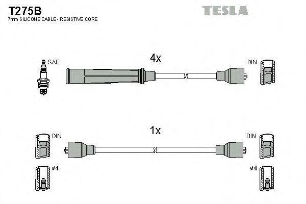Провода высоковольтные комплект TESLA T275B