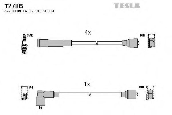 Провода высоковольтные комплект TESLA T278B