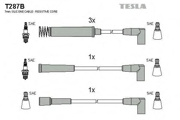 Провода высоковольтные комплект TESLA T287B