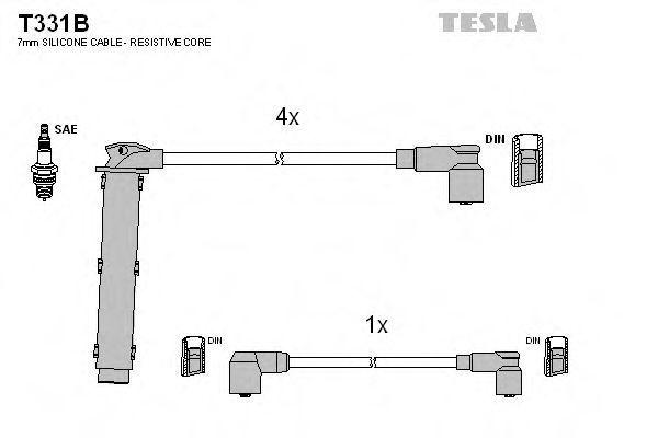 Провода высоковольтные комплект TESLA T331B