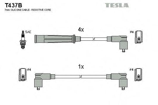 Провода высоковольтные комплект TESLA T437B