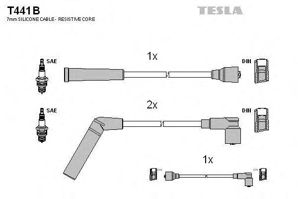Провода высоковольтные комплект TESLA T441B
