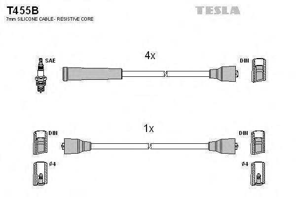 Провода высоковольтные комплект TESLA T455B