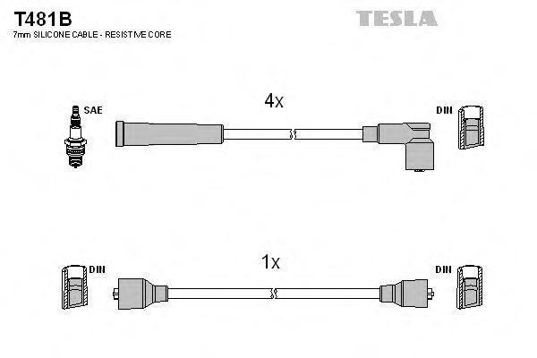 Провода высоковольтные комплект TESLA T481B