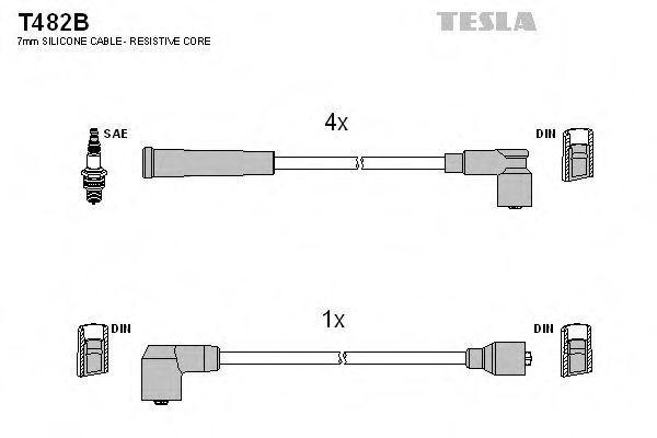 Провода высоковольтные комплект TESLA T482B