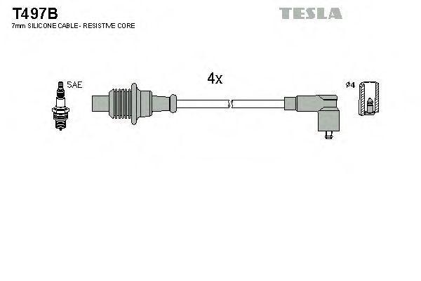 Провода высоковольтные комплект TESLA T497B