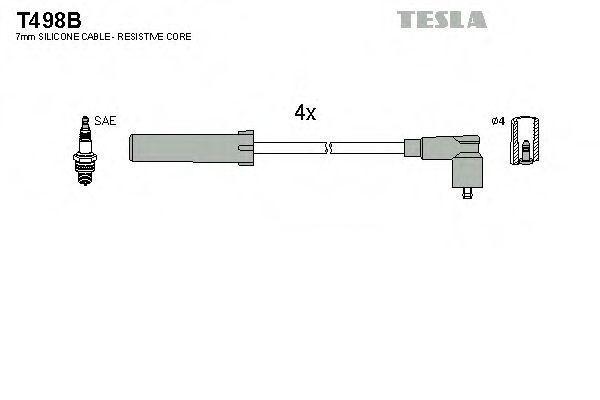 Провода высоковольтные комплект TESLA T498B