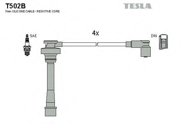 Провода высоковольтные комплект TESLA T502B