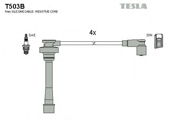 Провода высоковольтные комплект TESLA T503B
