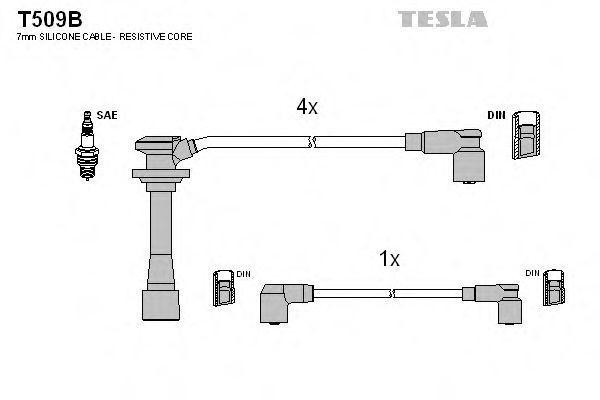 Провода высоковольтные комплект TESLA T509B