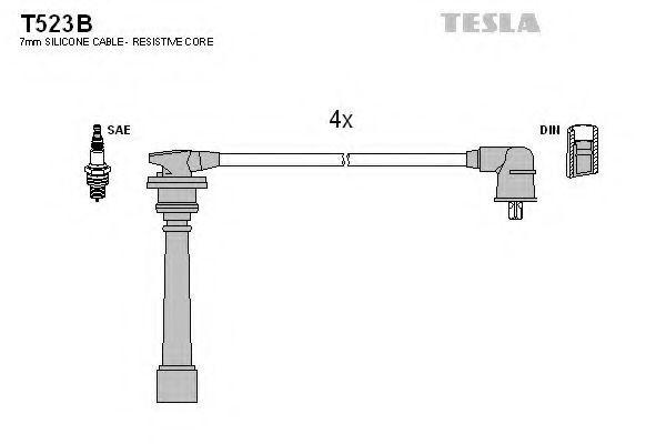 Провода высоковольтные комплект TESLA T523B