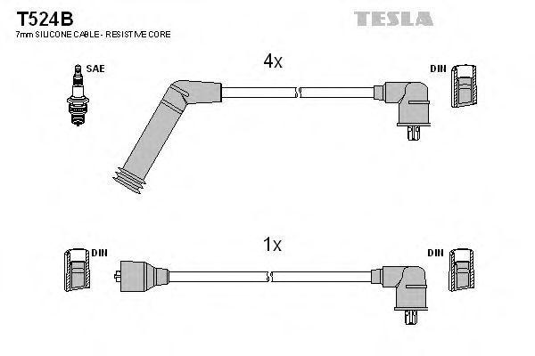 Провода высоковольтные комплект TESLA T524B