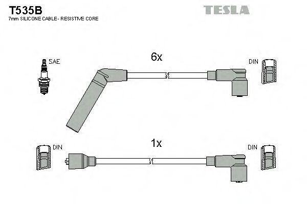 Провода высоковольтные комплект TESLA T535B