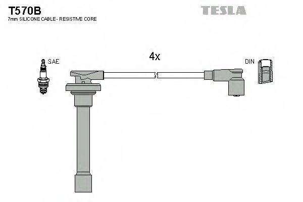 Провода высоковольтные комплект TESLA T570B