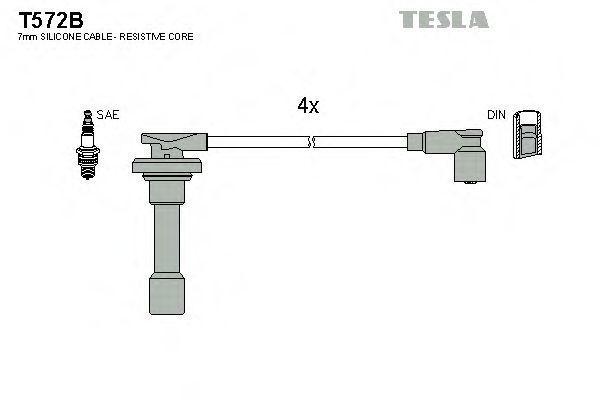 Провода высоковольтные комплект TESLA T572B
