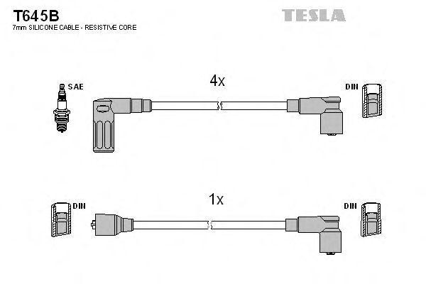 Провода высоковольтные комплект TESLA T645B