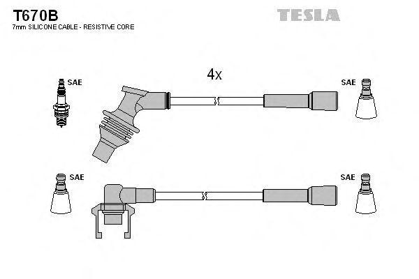 Провода высоковольтные комплект TESLA T670B
