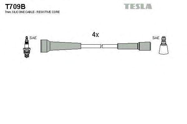 Провода высоковольтные комплект TESLA T709B