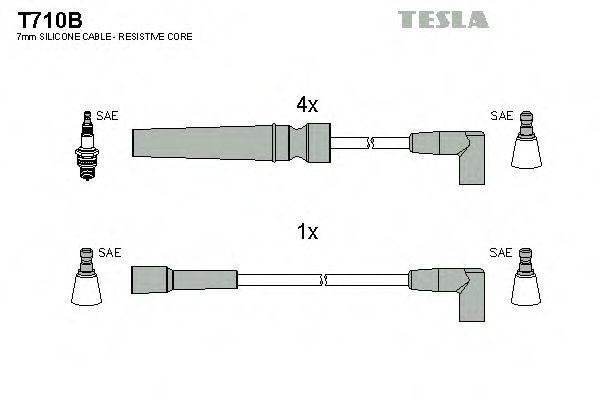 Провода высоковольтные комплект TESLA T710B