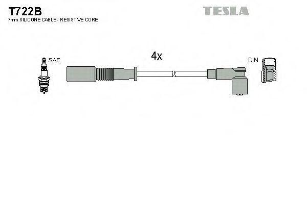 Провода высоковольтные комплект TESLA T722B