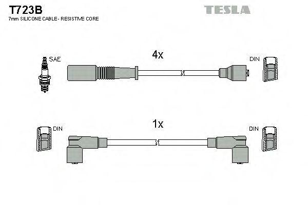 Провода высоковольтные TESLA T723B