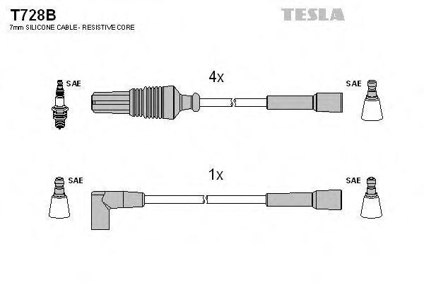 Провода высоковольтные комплект TESLA T728B