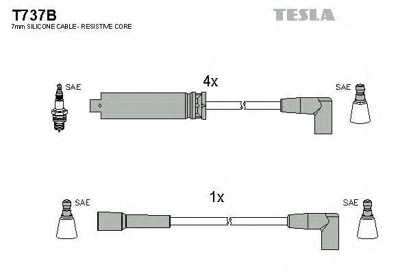 Провода высоковольтные комплект TESLA T737B