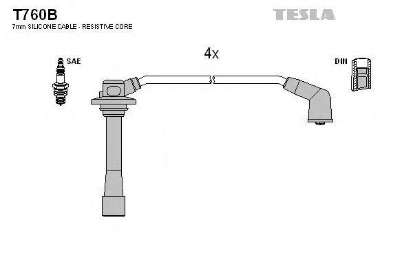 Провода высоковольтные комплект TESLA T760B