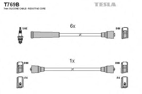 Провода высоковольтные комплект TESLA T769B