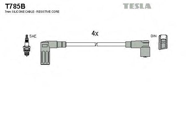 Провода высоковольтные комплект TESLA T785B