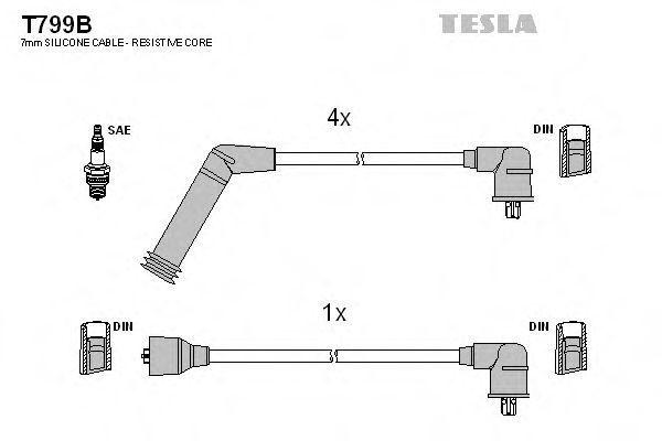 Провода высоковольтные комплект TESLA T799B