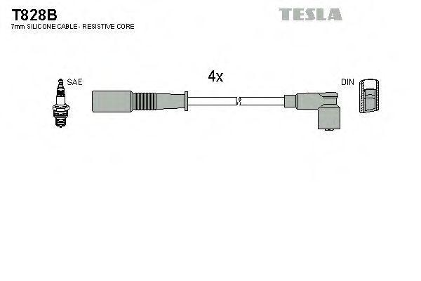 Провода высоковольтные комплект TESLA T828B