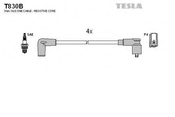 Провода высоковольтные комплект TESLA T830B