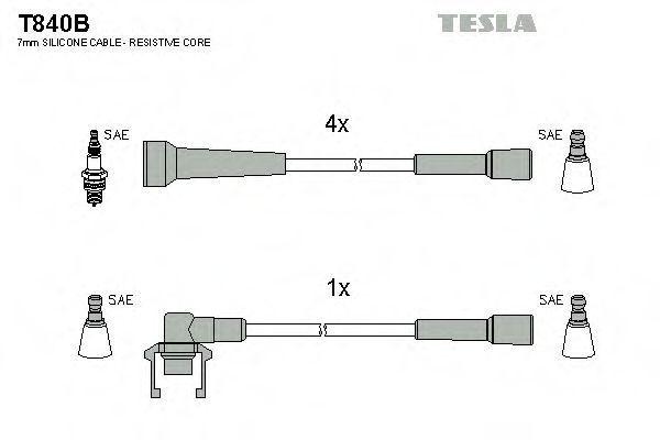 Провода высоковольтные TESLA T840B