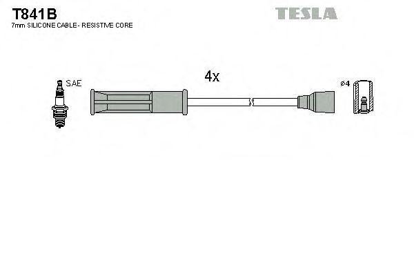Провода высоковольтные комплект TESLA T841B